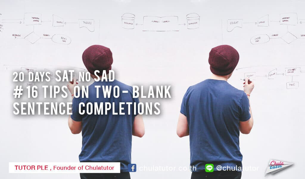 Tips on Two-Blank Sentence Completions